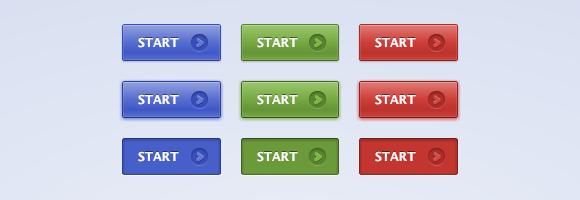 Разноцветные кнопки на CSS