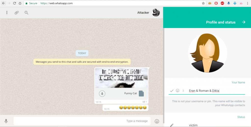 Доступ к аккаунту жертвы whatsapp