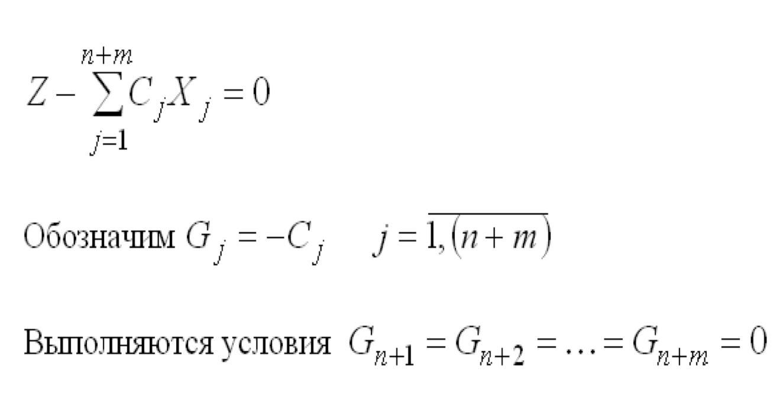 III Представление ЦФ в виде уравнения