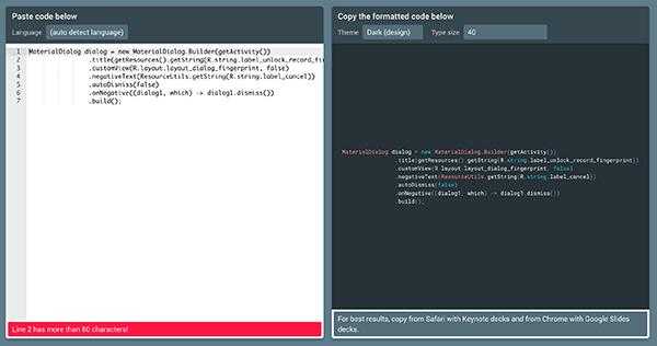 Slides Code Highlighter