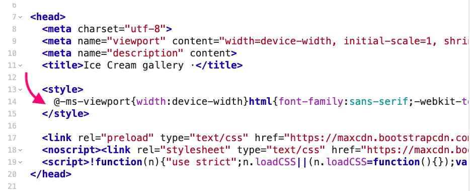 Извлекаем критический CSS