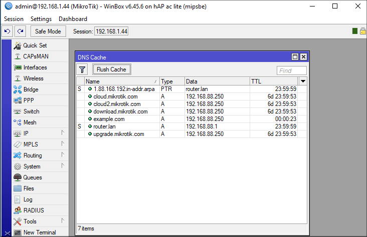 MikroTik: RouterOS: Chain to Root