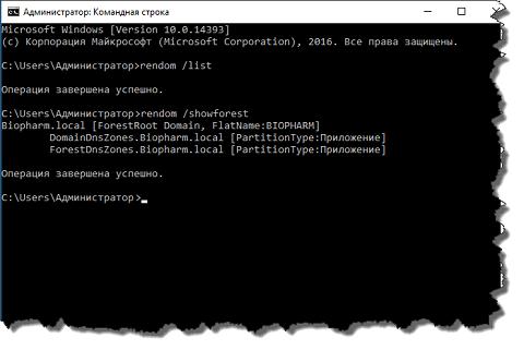 Переименование домена Active Directory