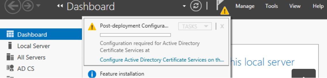 Установка и настройка корневого центра сертификации (RootCA)