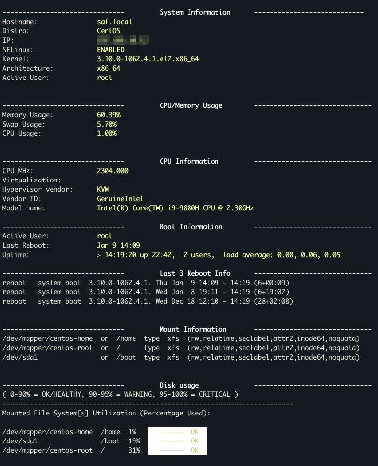 Bash - Сбор информации о системе