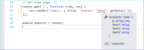 Создание приложения Node.js и Express в Visual Studio