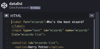 How to create an autocomplete input with only HTML