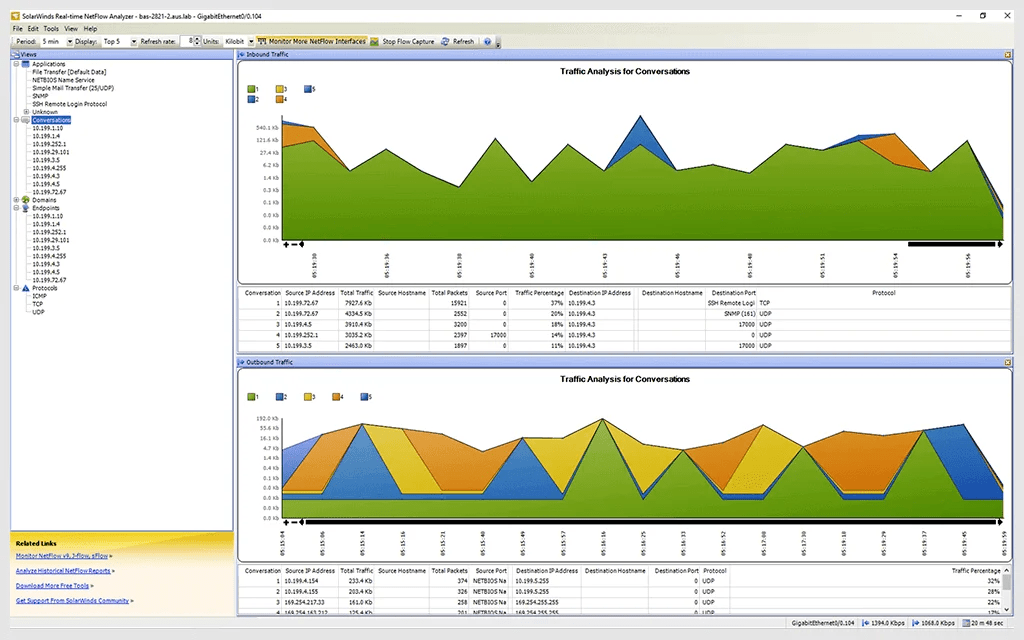 Real-Time NetFlow Analyzer