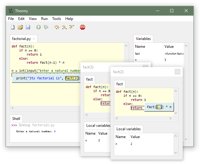Thonny Python IDE for beginners