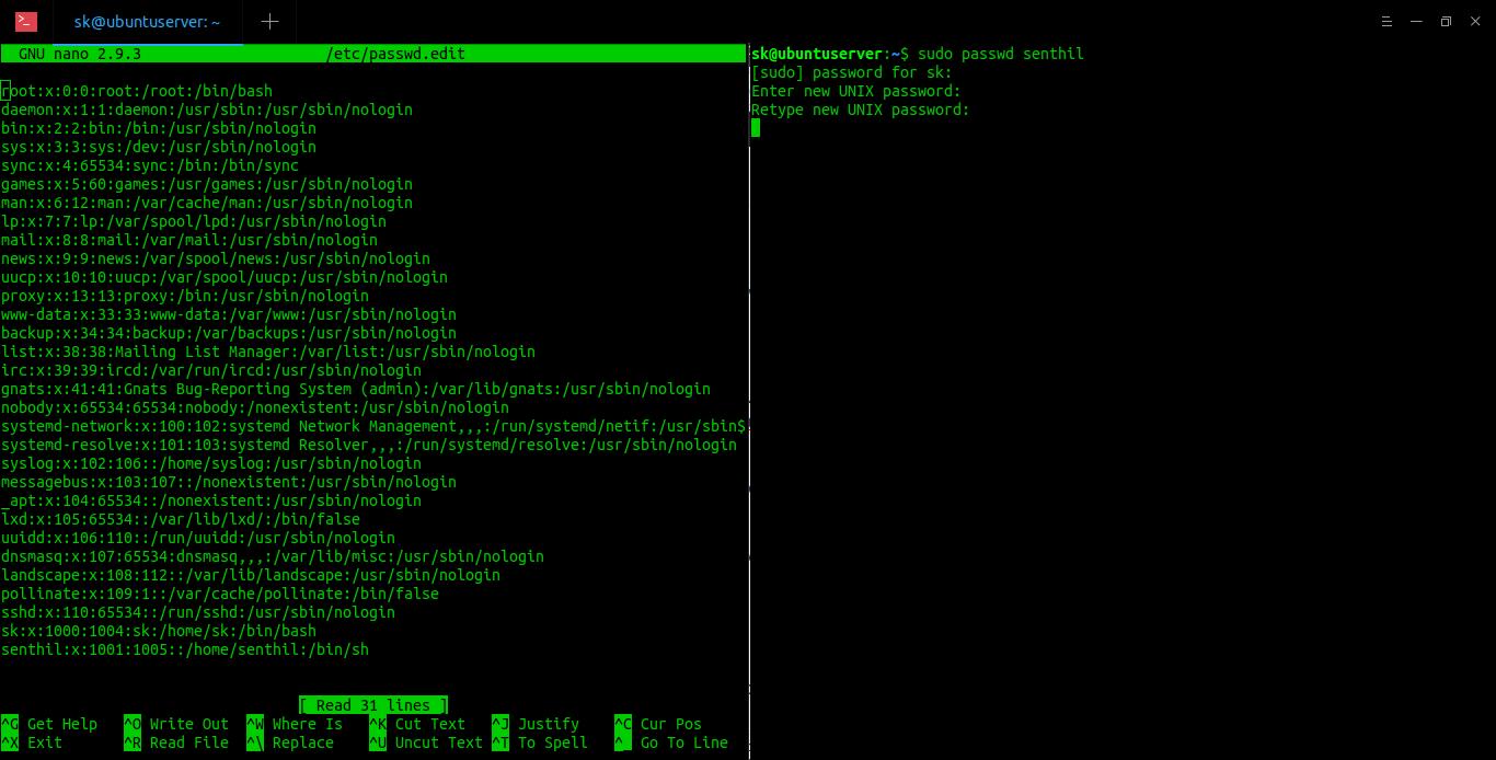 Правильный способ редактирования файлов /etc/passwd и /etc/group в Linux