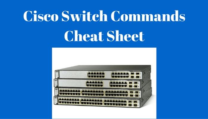 Cisco Switch Commands Cheat Sheet (CLI) шпаргалка